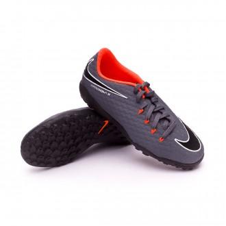Chaussure  Nike Hypervenom PhantomX III Academy Turf Niño Dark grey-Total orange-White