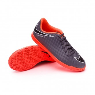 Chaussure de futsal  Nike Hypervenom PhantomX III Club IC Niño Dark grey-Total orange-White