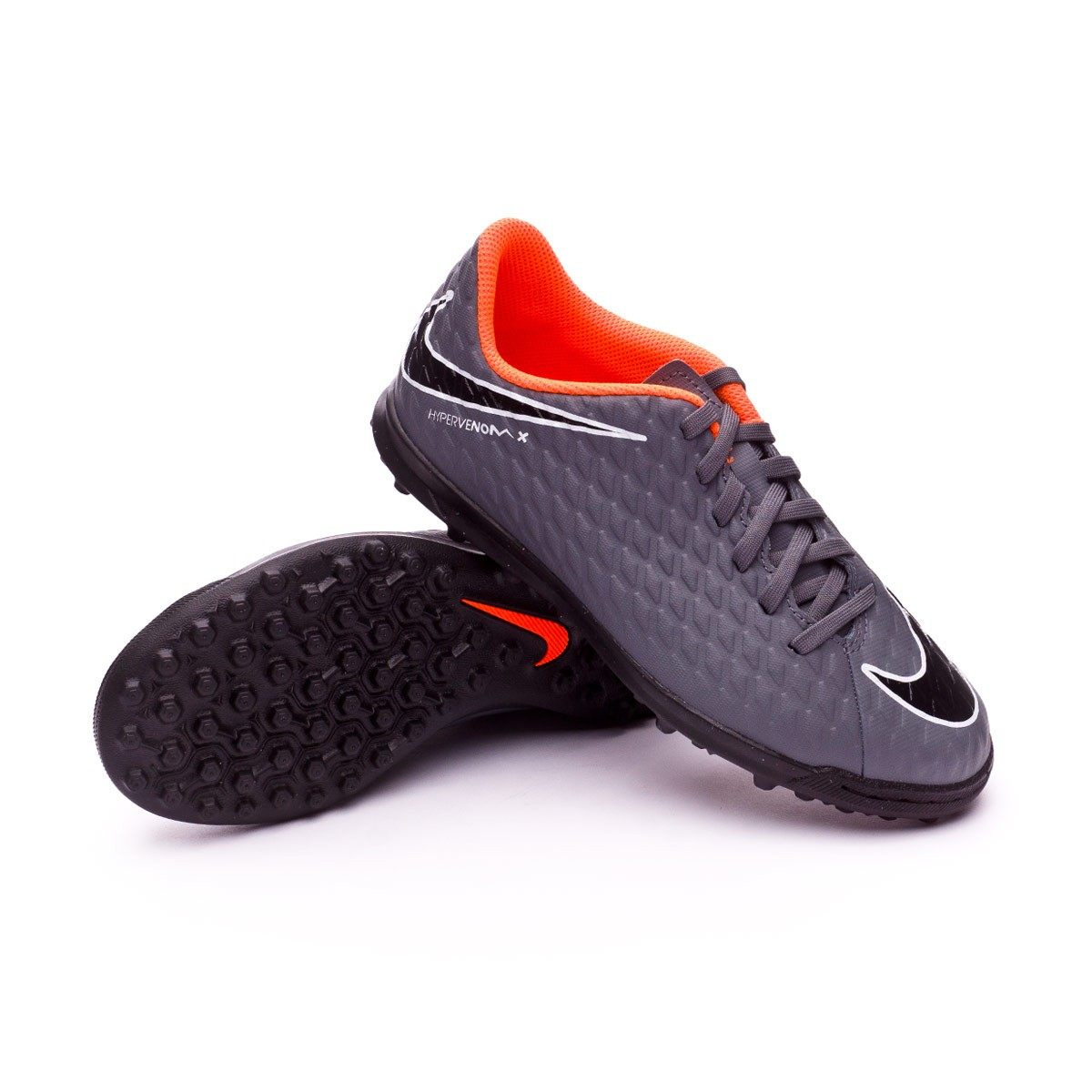 0691b70fd9a78 Football Boot Nike Kids Hypervenom PhantomX III Club Turf Dark grey ...