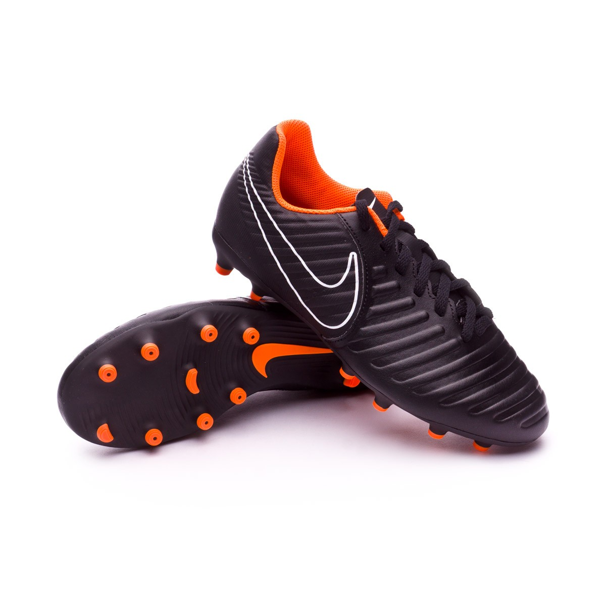 9ea386a65 Football Boots Nike Kids Tiempo Legend VII Club FG Black-Total ...