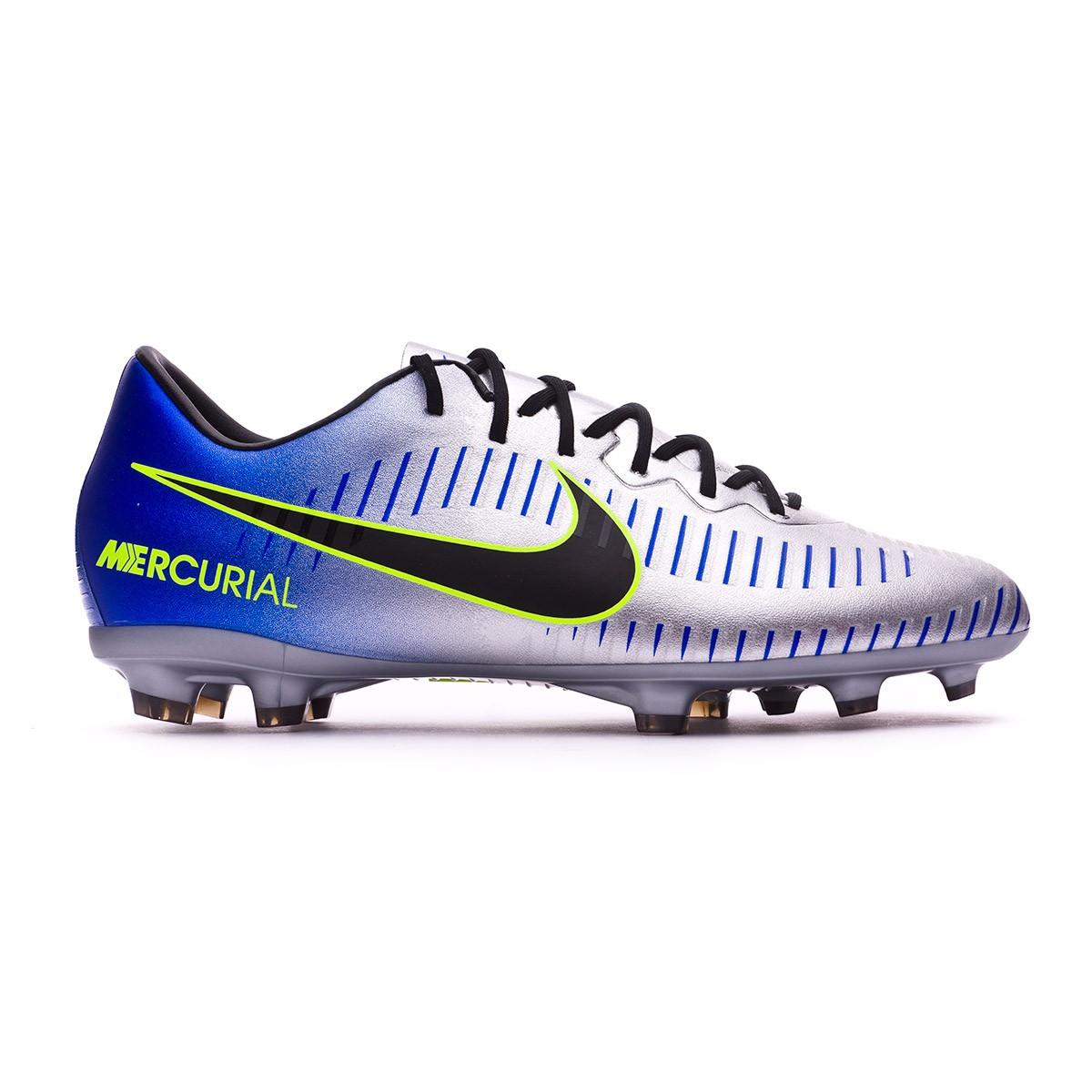 a7e146017 Football Boots Nike Kids Mercurial Vapor XI FG Neymar Racer blue-Black-Chrome-Volt  - Tienda de fútbol Fútbol Emotion