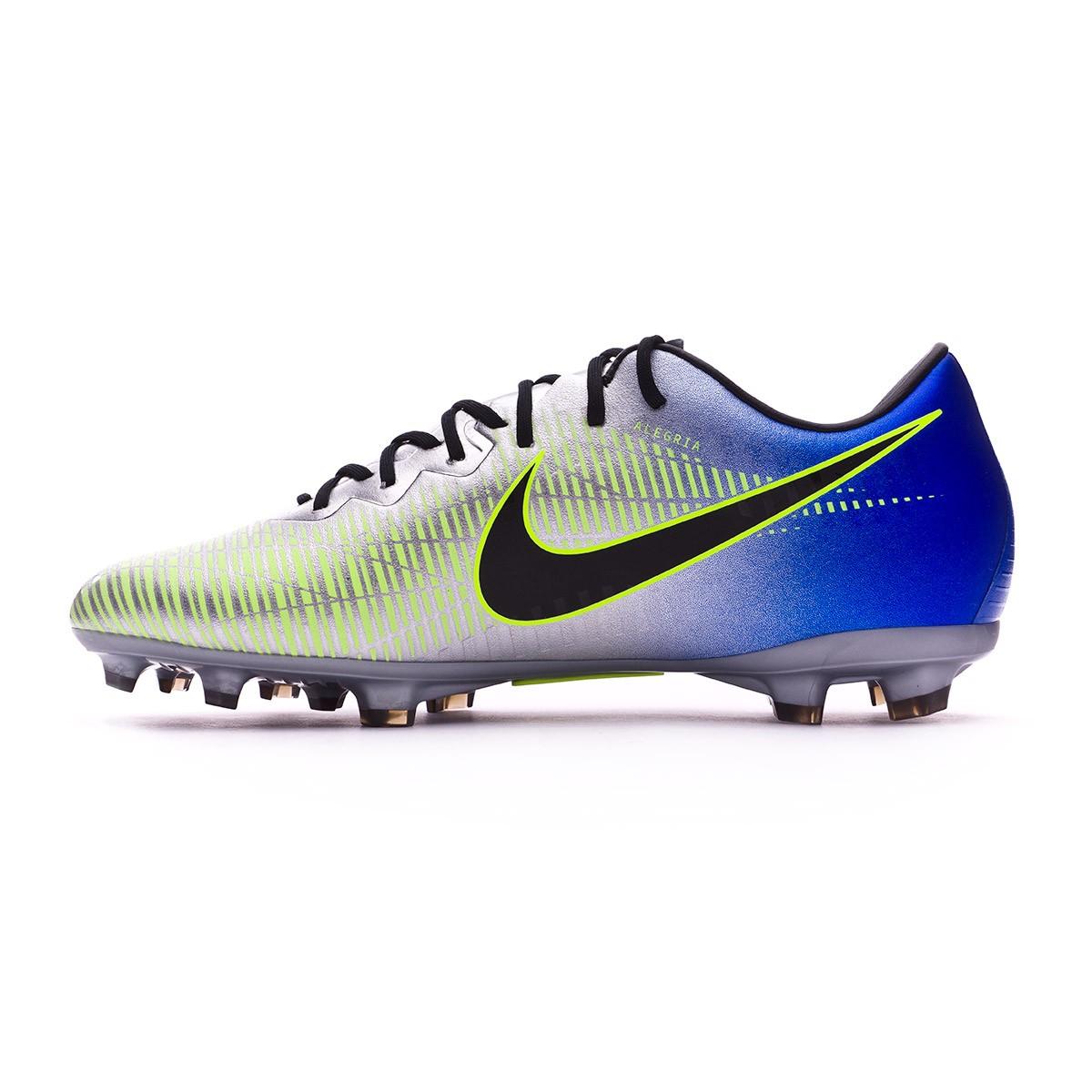 bf01f8d6754c Football Boots Nike Kids Mercurial Vapor XI FG Neymar Racer  blue-Black-Chrome-Volt - Football store Fútbol Emotion