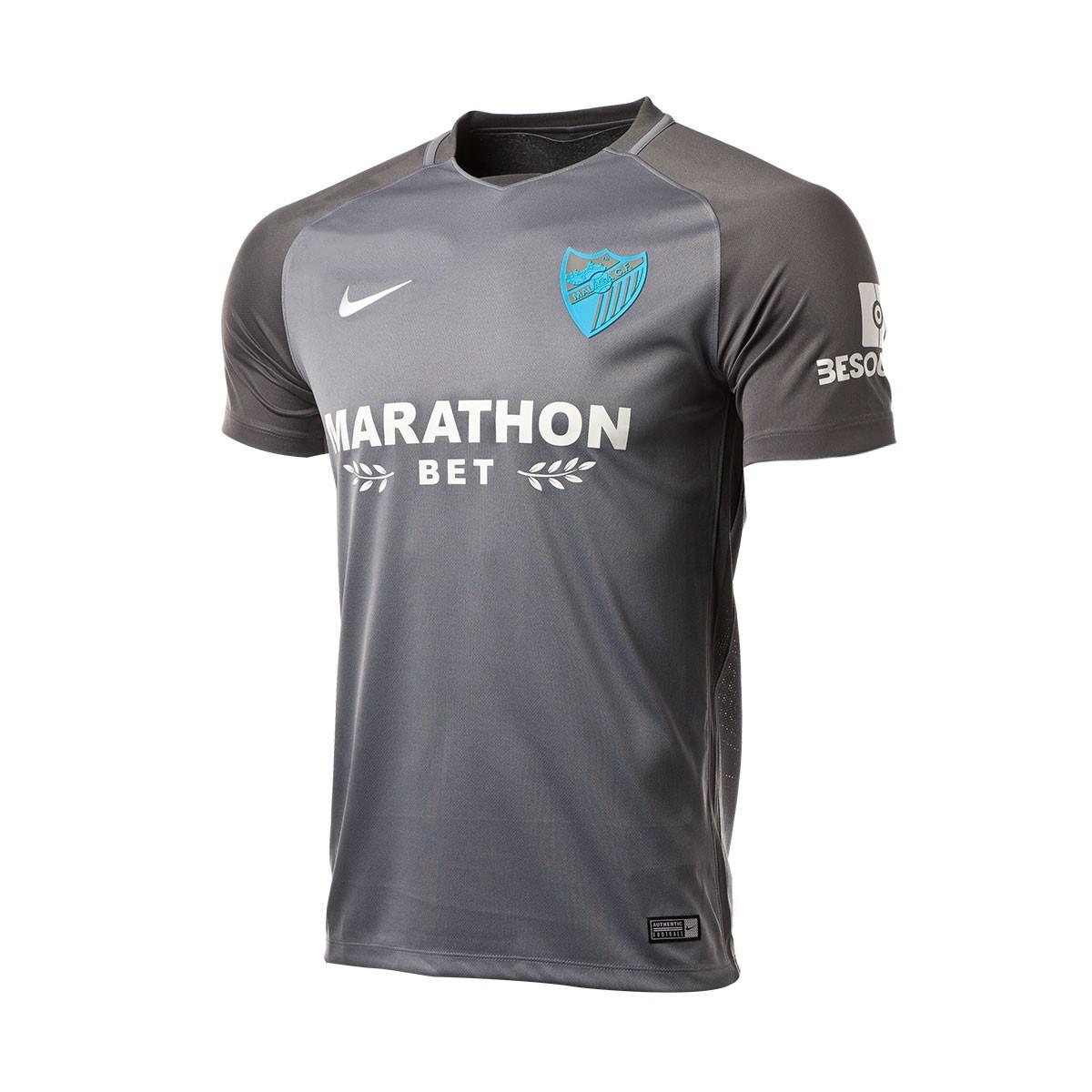 ... Camiseta Málaga CF Segunda Equipación 2017-2018 Gris. Categorías de la  Camiseta d21d7ce9faa8b