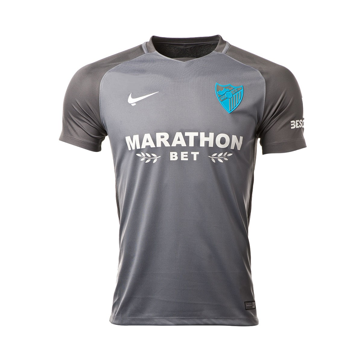 Camiseta Nike Málaga CF Segunda Equipación 2017-2018 Gris - Soloporteros es  ahora Fútbol Emotion 010fcfd5163f7