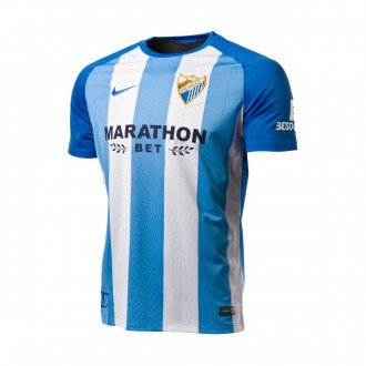 Jersey  Nike Kids Malaga FC 2017-2018 Home White-Blue
