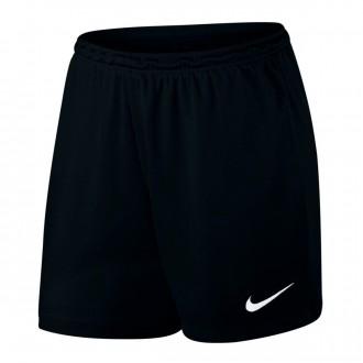 Calções  Nike Park II Knit Mujer Black-White