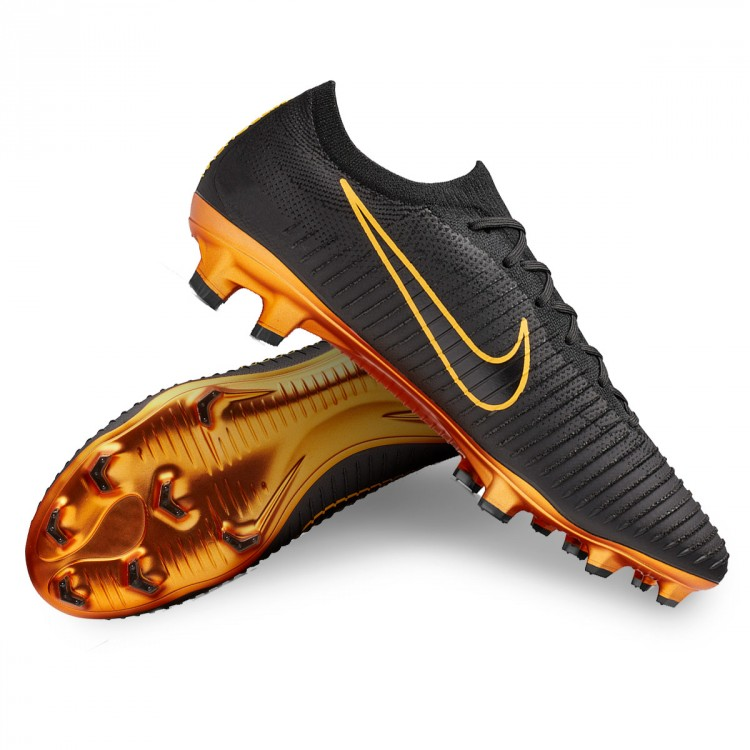 e23afd57c Football Boots Nike Mercurial Vapor Flyknit Ultra FG Black-Golden ...