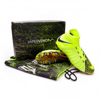 Bota  Nike Hypervenom Phantom III DF EA SPORTS FG Black-Volt