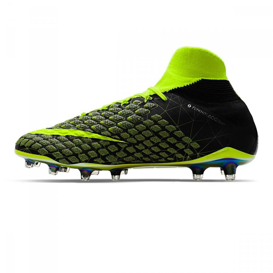8b1853a00649 Football Boots Nike Hypervenom Phantom III DF EA SPORTS FG Niño Black-Volt  - Football store Fútbol Emotion