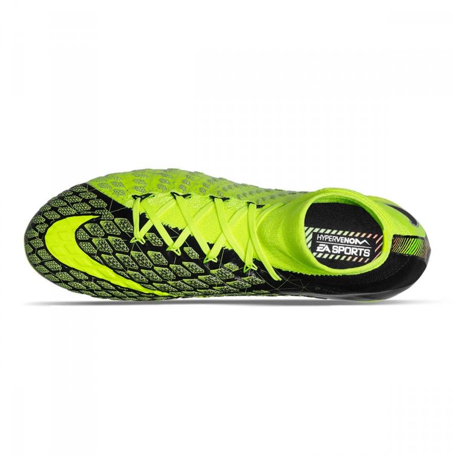8cdcb2e8d3a37 Bota de fútbol Nike Hypervenom Phantom III DF EA SPORTS FG Niño Black-Volt  - Tienda de fútbol Fútbol Emotion