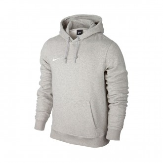 Sudadera  Nike Team Club Hoody Grey heather-White