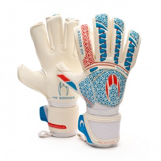 Guante  HO Soccer Ikarus Elite Roll/Negative Sandra Paños White-Cyan-Red