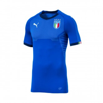 Camiseta  Puma Italia Primera Equipación SS 2017-2018 Team power blue-Peacoat
