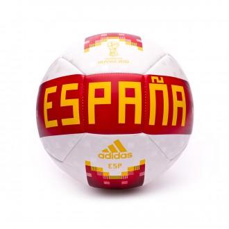 Bola de Futebol  adidas OLP 18 Espanha White-Red-Bold Gold