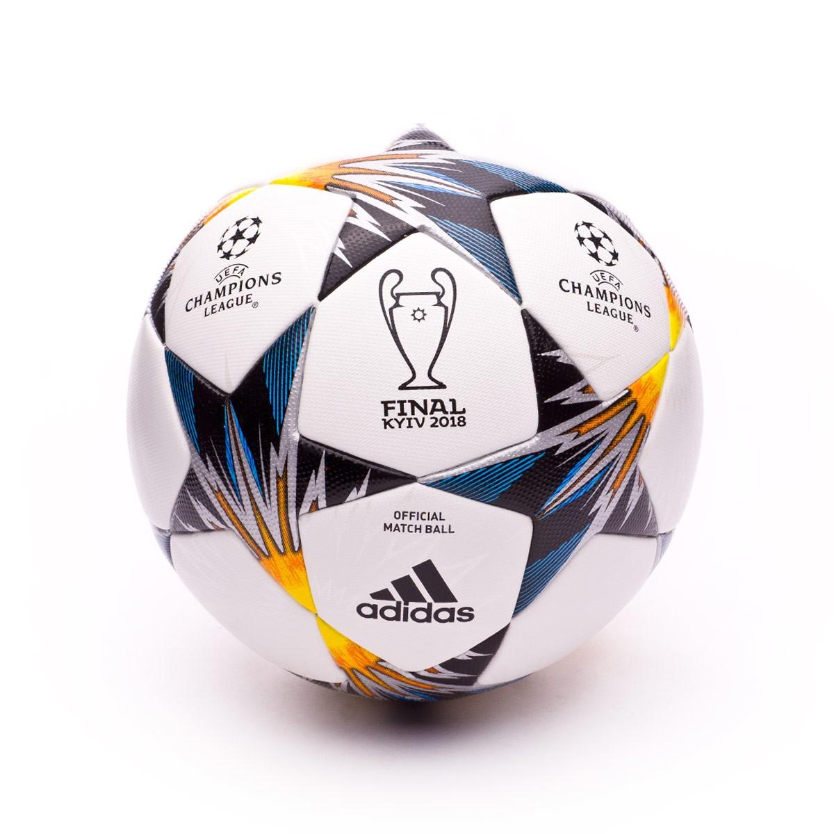 d632f6a592329 Ball adidas Finale Kiev OMB White-Black-Solar yellow-Blue-Clear agua ...