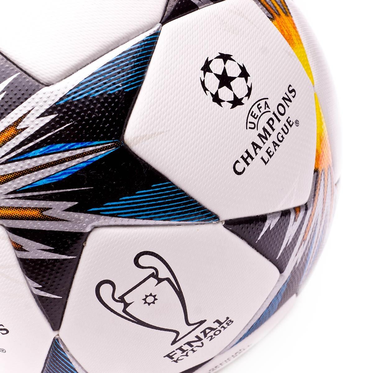 13f3e21399dfe Ball adidas Finale Kiev OMB White-Black-Solar yellow-Blue-Clear agua-Oran -  Tienda de fútbol Fútbol Emotion