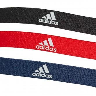 Cinta  adidas de pelo Training (Pack 3 uds.) Rojo-Azul-Negro
