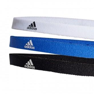 Cinta  adidas de pelo Training (Pack 3 uds.) Azul-Blanco-Negro
