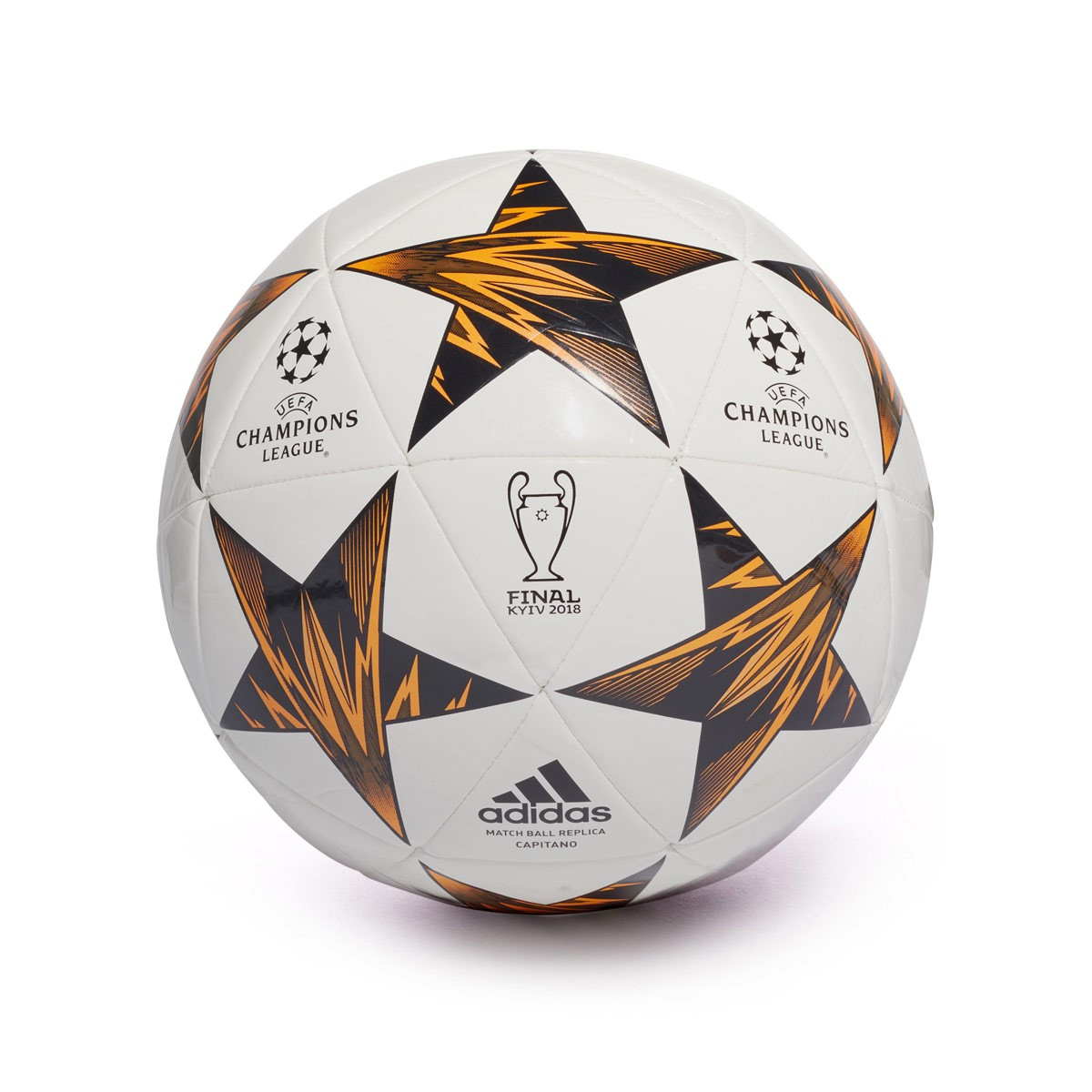 Ball adidas Finale Kiev Capitano White-Black-Trace olive-Core black-Bright  ora - Soloporteros es ahora Fútbol Emotion ebfbffe3de422