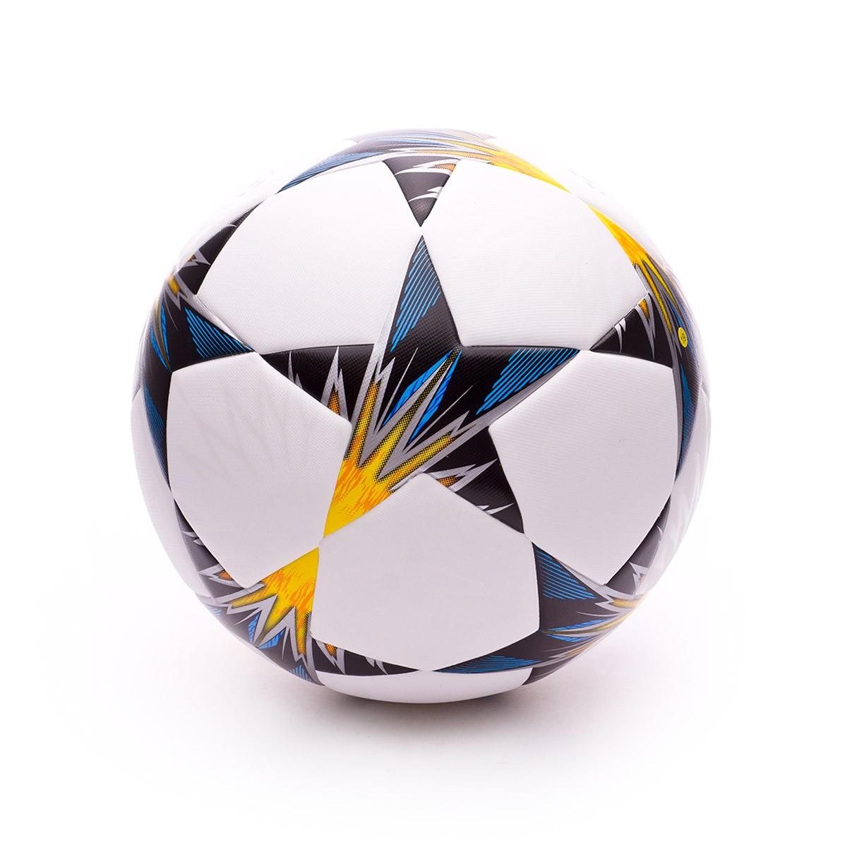 62e02bcfb1569 Ball adidas Finale Kiev TT White-Black-Solar yellow-Blue-Clear aqua-Oran -  Football store Fútbol Emotion