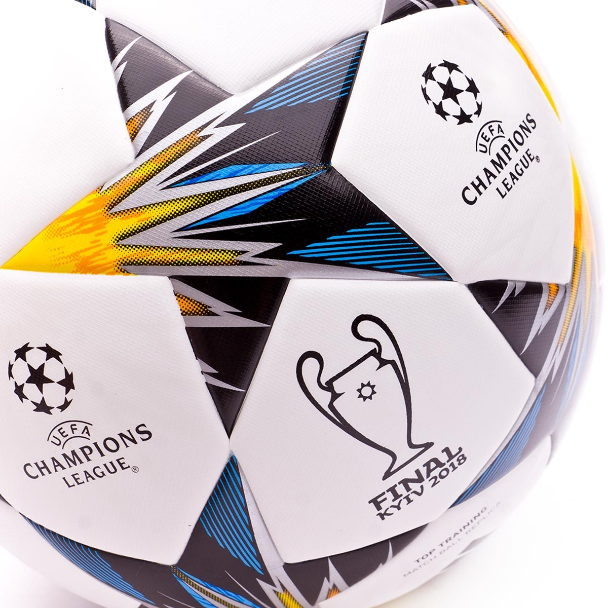 Ball adidas Finale Kiev TT White-Black-Solar yellow-Blue-Clear aqua ... 13a1caa785a6e