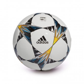 Bola de Futebol  adidas Finale Kiev Competition White-Black-Solar yellow-Blue-Clear aqua-Oran
