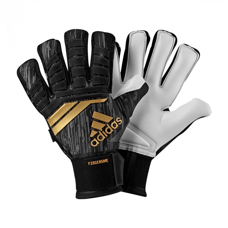 01c0e2935d99 Glove adidas Predator Pro Fingersave Black-Solar red-Copper gold ...