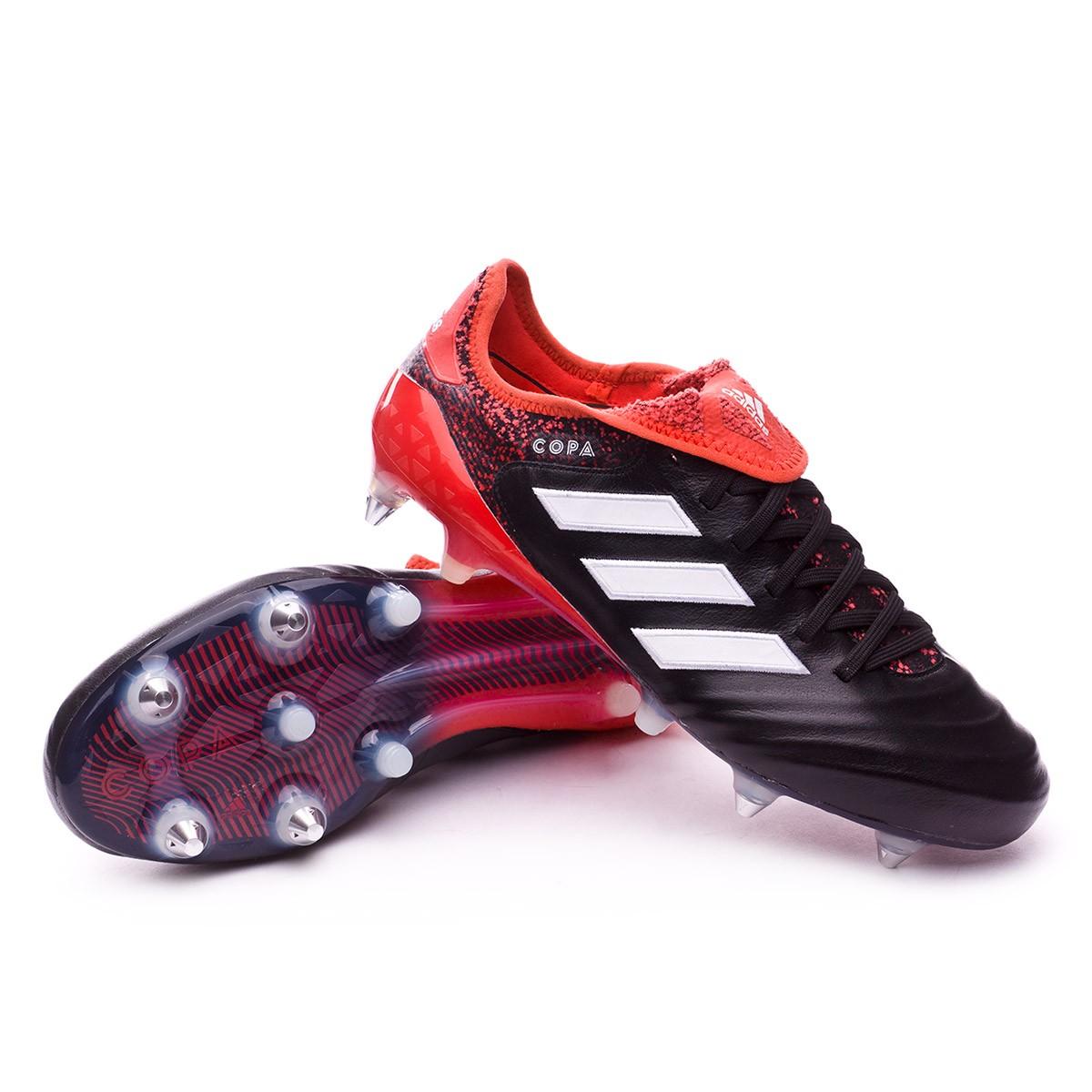 f07235fd8a3e Football Boots adidas Copa 18.1 SG Core black-White-Real coral ...