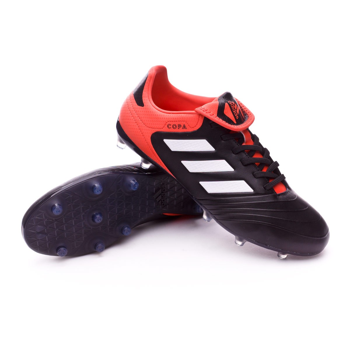 9867d89e1 Football Boots adidas Copa 18.3 FG Core black-White-Real coral ...
