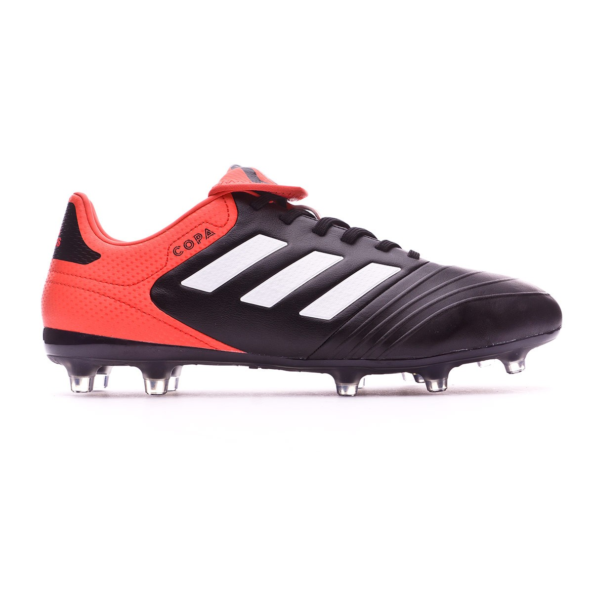 bada97aae Football Boots adidas Copa 18.3 FG Core black-White-Real coral - Football  store Fútbol Emotion