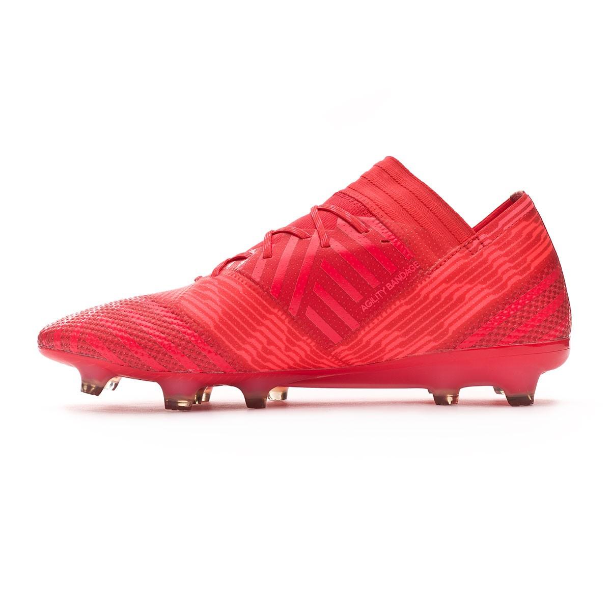 3707e2541aae Football Boots adidas Nemeziz 17.1 FG Real coral-Red zest - Football store  Fútbol Emotion