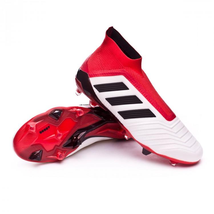 843907d32ff Zapatos de fútbol adidas Predator 18+ FG White-Core black-Real coral ...