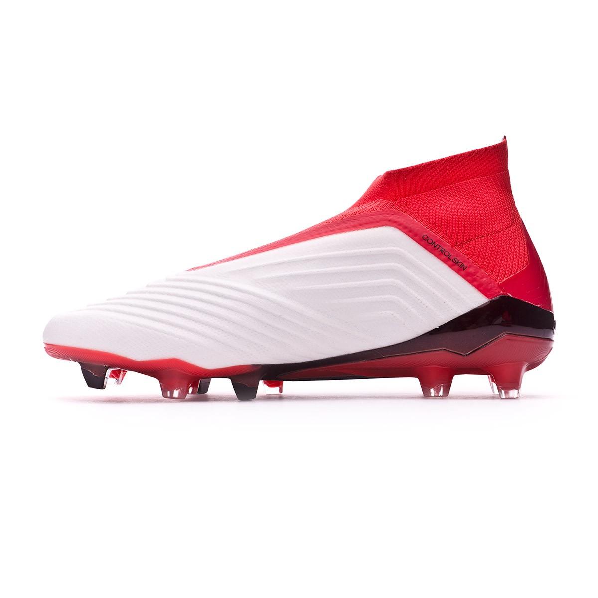0cdab43862fa Football Boots adidas Predator 18+ FG White-Core black-Real coral - Tienda  de fútbol Fútbol Emotion