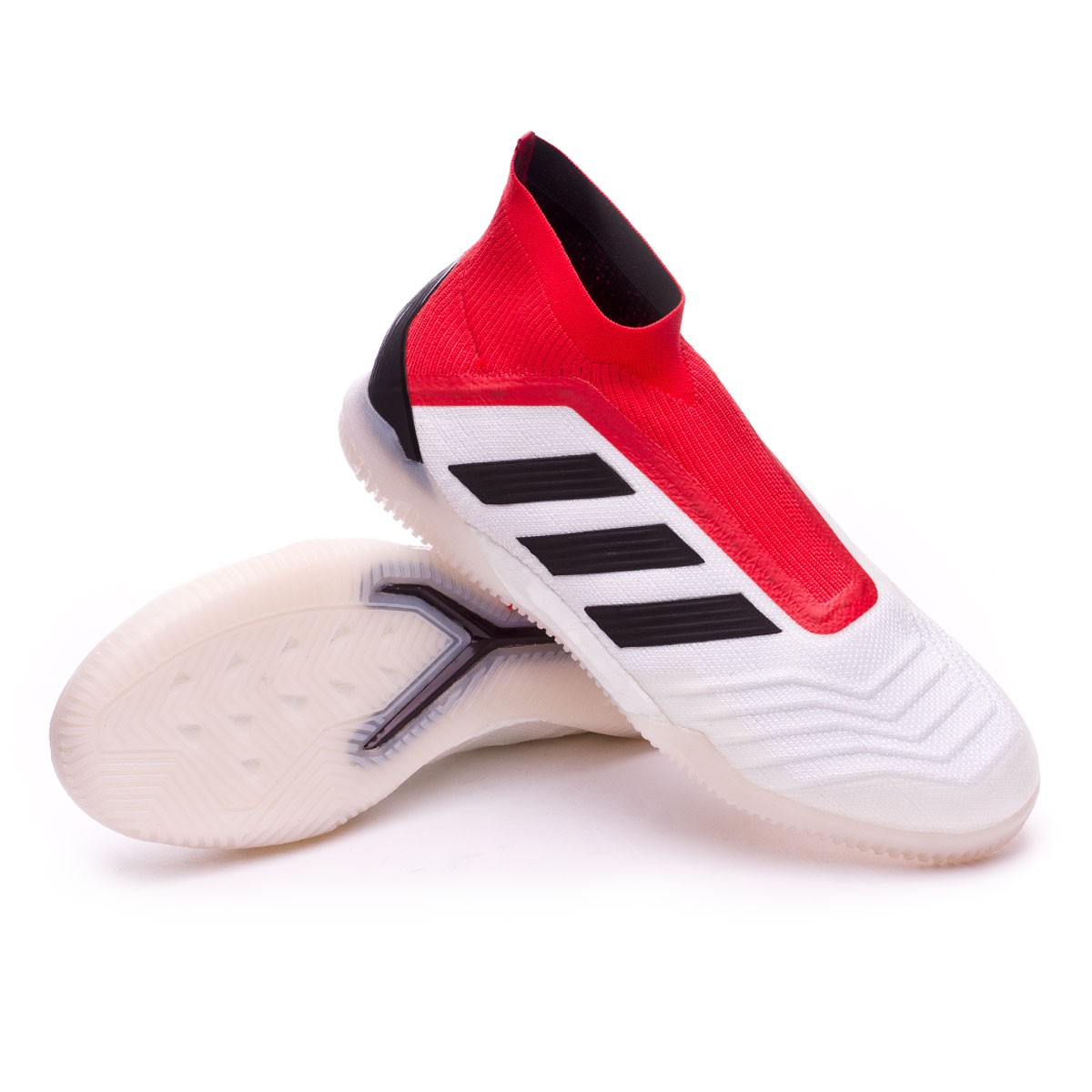 Zapatilla adidas Predator Tango 18+ IN White-Core black-Real coral ... 9064c959b58