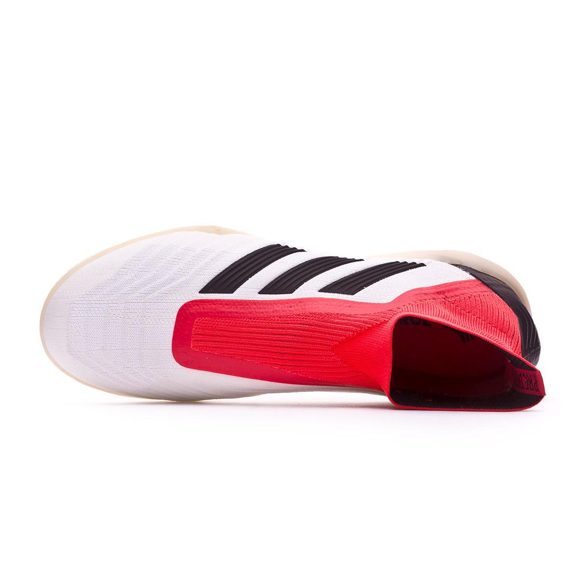 fa48bbb9 Tenis adidas Predator Tango 18+ IN White-Core black-Real coral - Tienda de  fútbol Fútbol Emotion