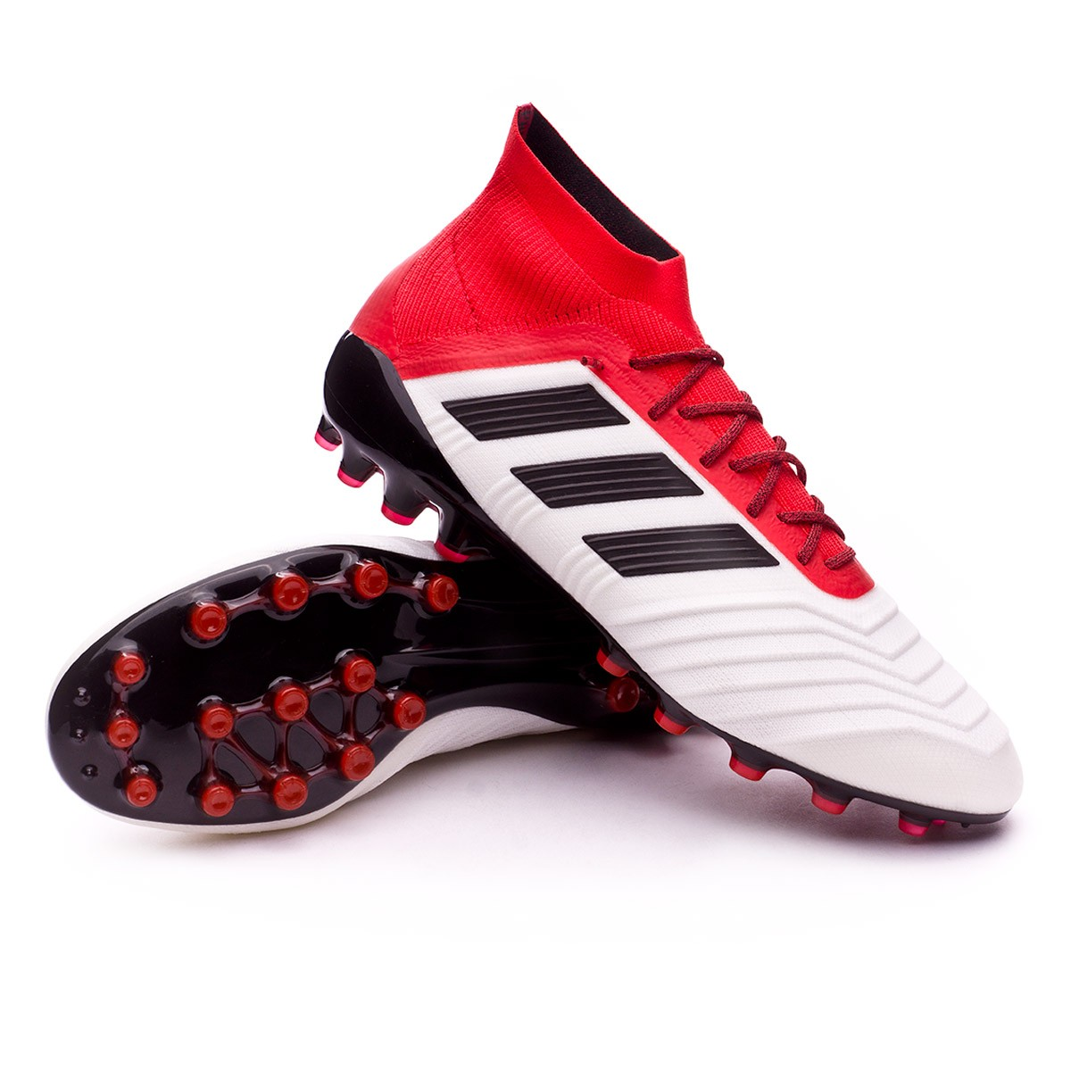 8947c892e53c Football Boots adidas Predator 18.1 AG White-Core black-Real coral ...