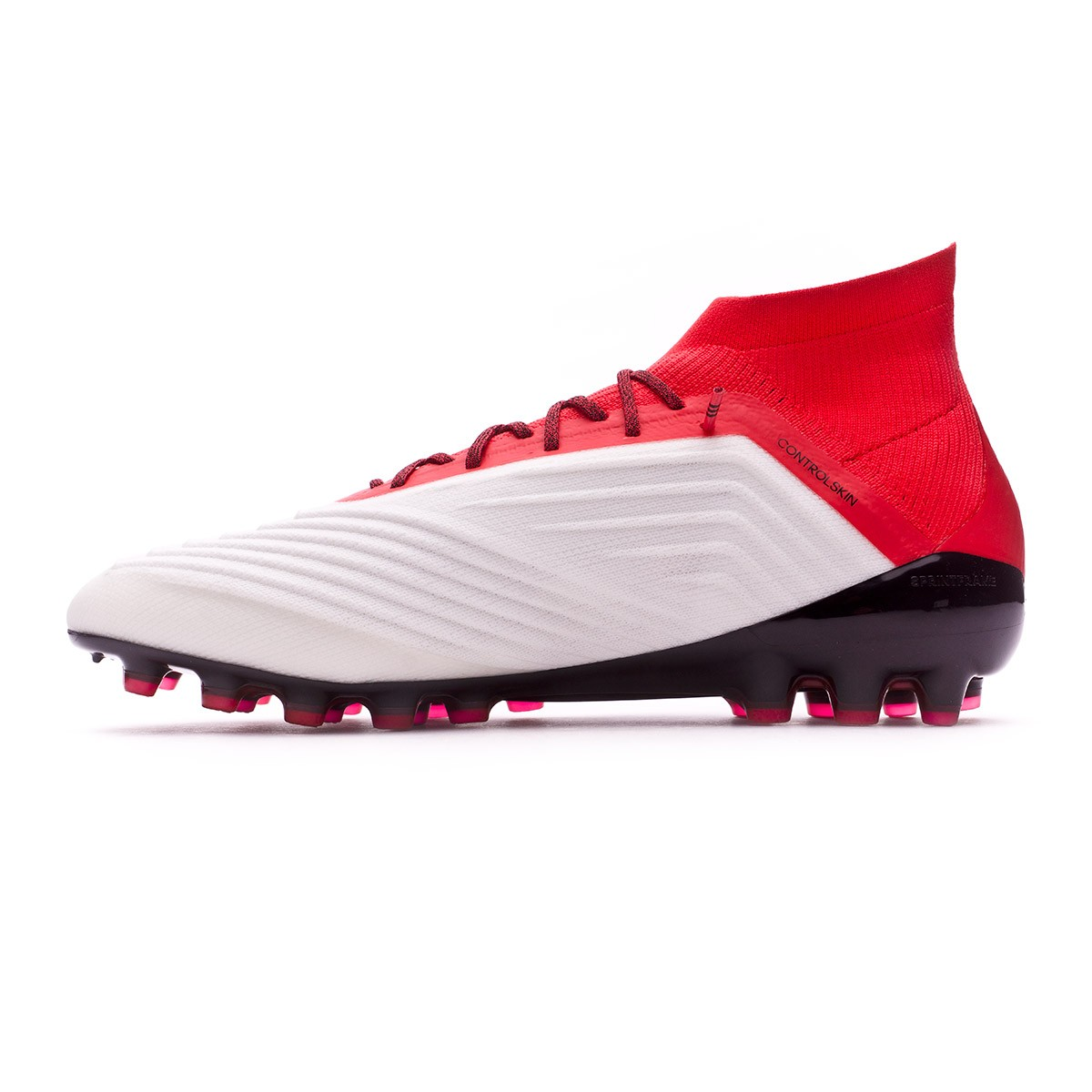 5c858eef297b Football Boots adidas Predator 18.1 AG White-Core black-Real coral -  Football store Fútbol Emotion