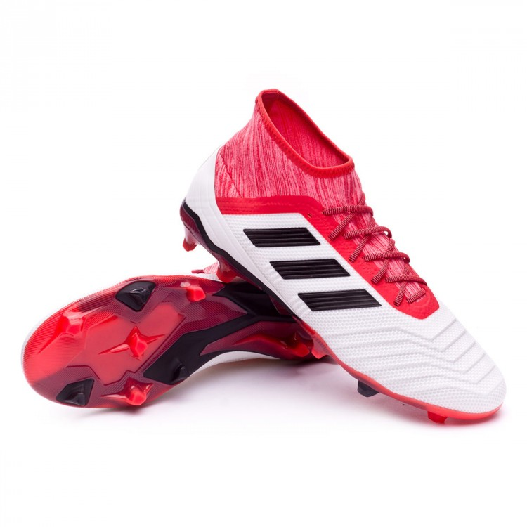 52ccbfa4dfe526 Boot adidas Predator 18.2 FG White-Core black-Real coral - Football ...