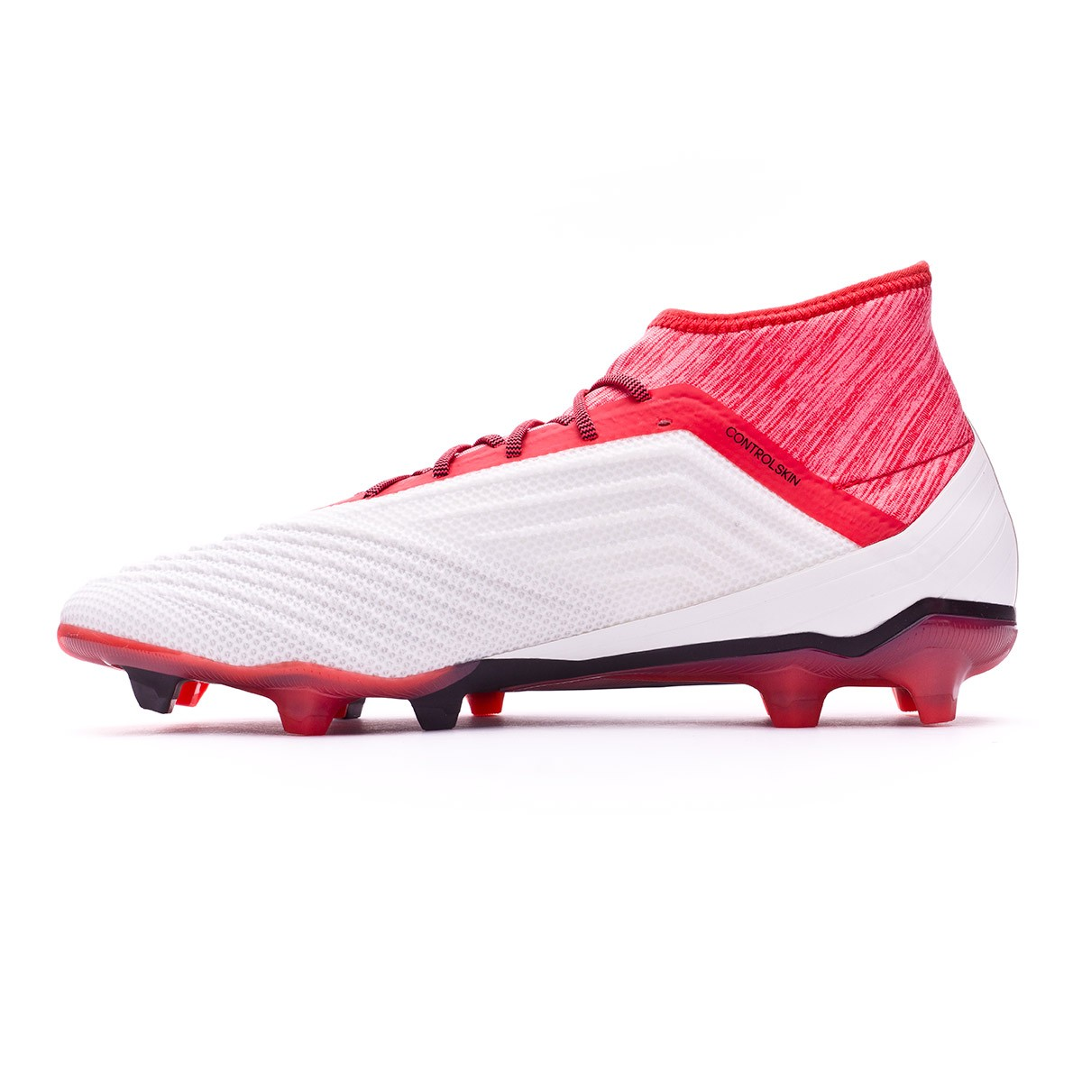 21488ace361 Football Boots adidas Predator 18.2 FG White-Core black-Real coral - Tienda  de fútbol Fútbol Emotion