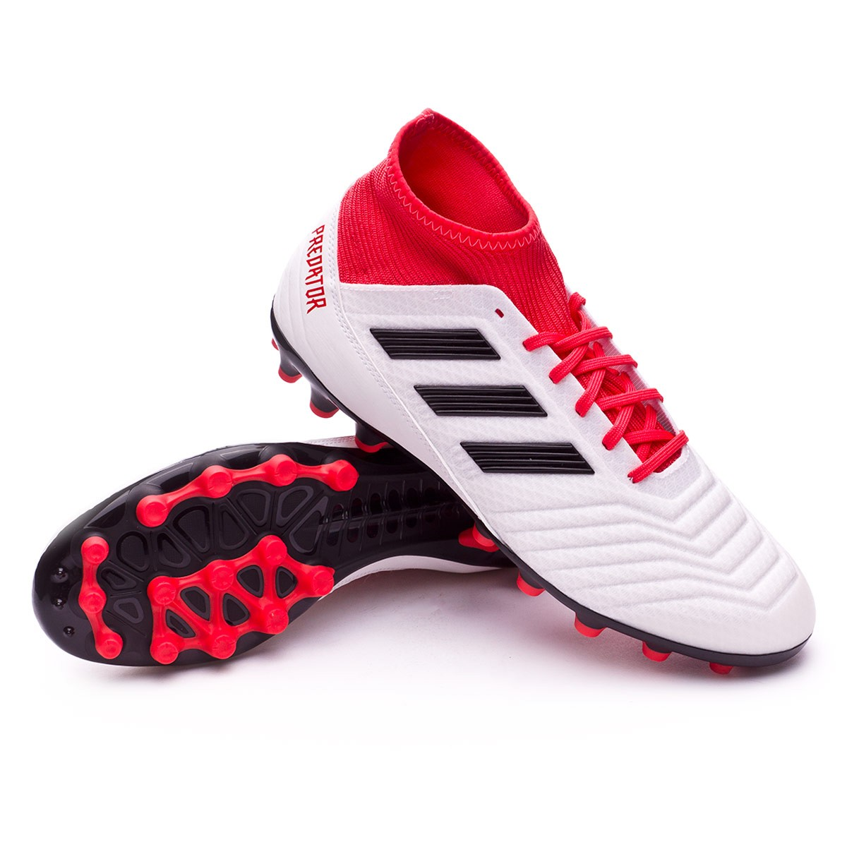 dbed815bf17 Football Boots adidas Predator 18.3 AG White-Core black-Real coral ...