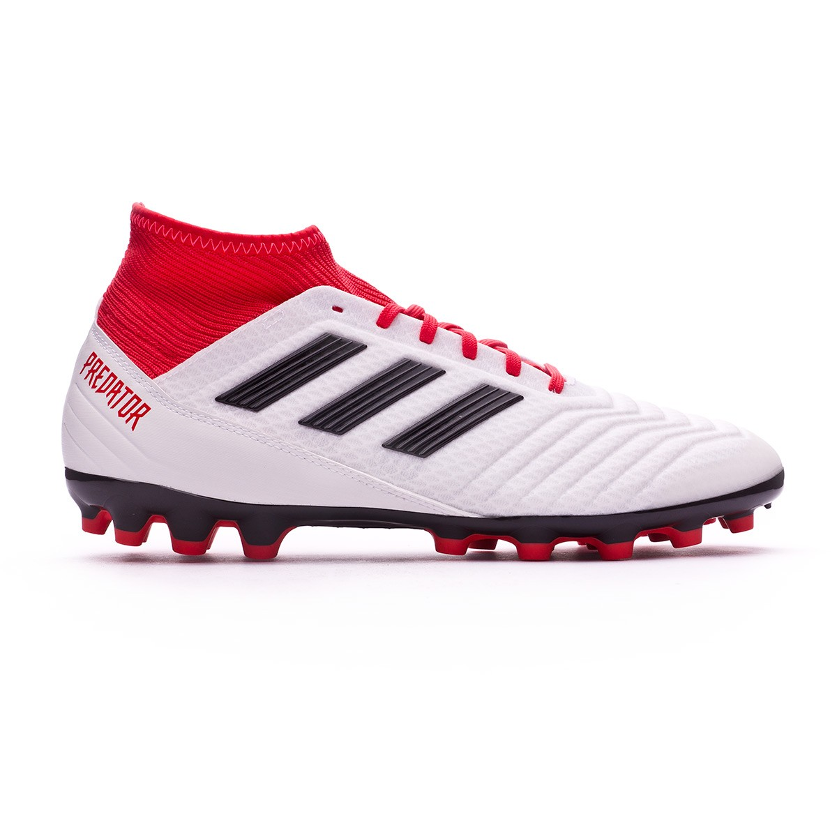 8603c7f63cd Football Boots adidas Predator 18.3 AG White-Core black-Real coral -  Football store Fútbol Emotion