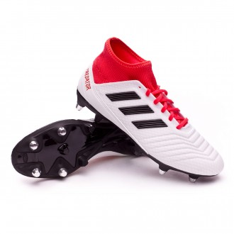 Chaussure  adidas Predator 18.3 SG White-Core black-Real coral