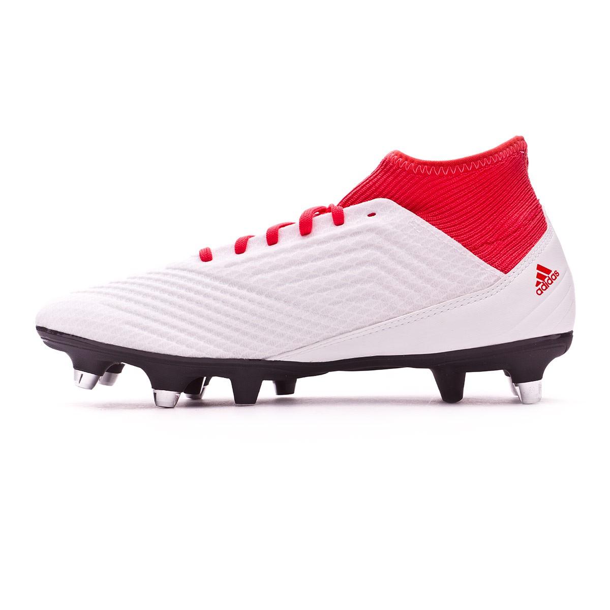 61dff0e9438 Football Boots adidas Predator 18.3 SG White-Core black-Real coral -  Football store Fútbol Emotion