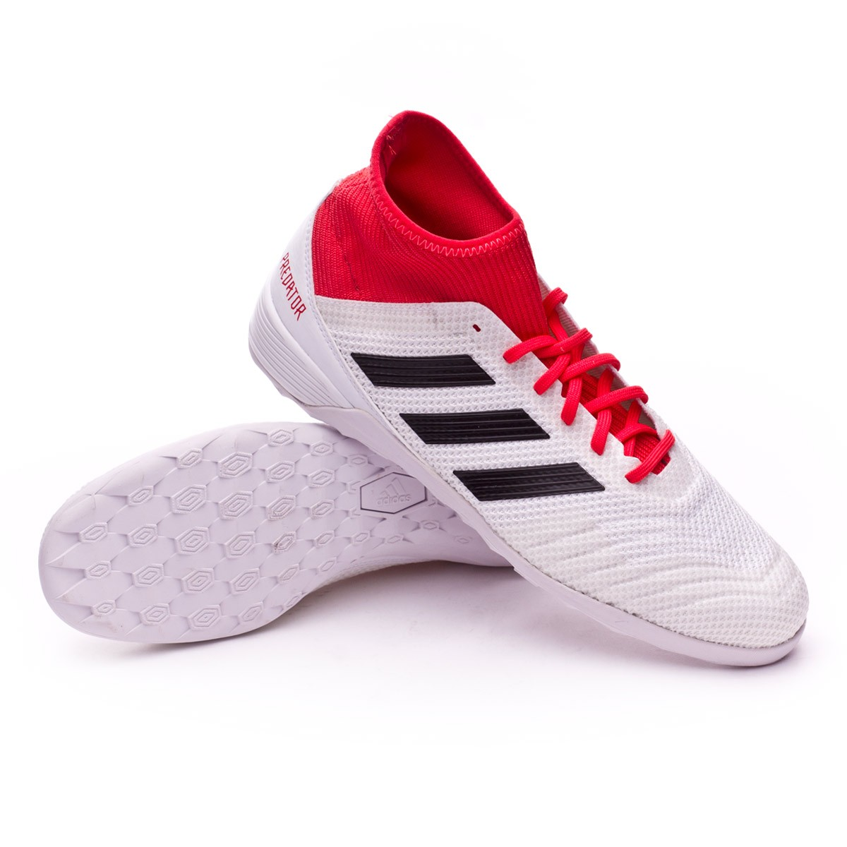 adidas Predator Tango 18.3 IN Futsal Boot. White-Core black-Real coral ... 6683b805d