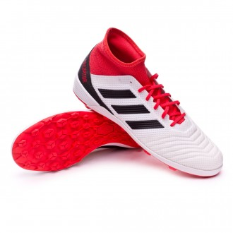 Zapatilla  adidas Predator Tango 18.3 Turf White-Core black-Real coral