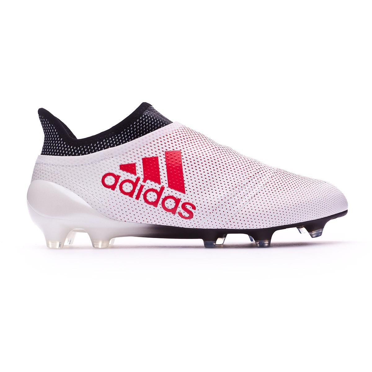brand new 10537 e2025 Zapatos de fútbol adidas X 17+ FG Grey-Real coral-Core black - Tienda de fútbol  Fútbol Emotion