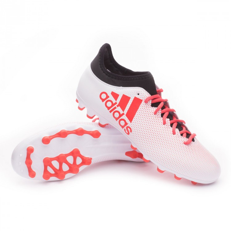 bfc21fd1895 Chaussure de foot adidas X 17.3 AG Grey-Real coral-Core black ...