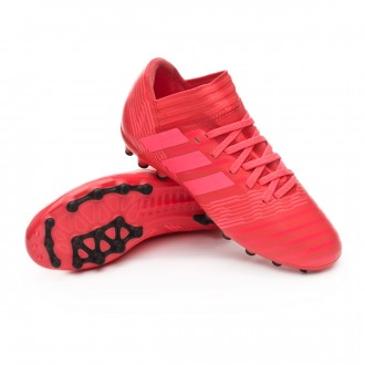 Chaussure  adidas Nemeziz 17.3 AG Niño Real coral-Red zest-Core black
