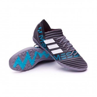 Zapatilla  adidas Nemeziz Messi Tango 17.3 Turf Niño Grey-White-Core black