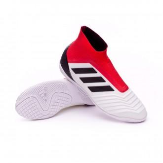 Chaussure de futsal  adidas Predator Tango 18+ IN Niño White-Core black-Real coral